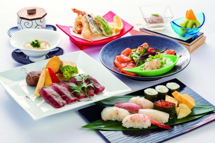 寿司天妇罗牛排套餐